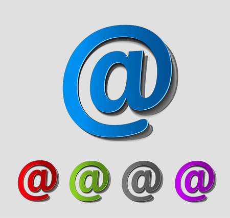 vector email icon web design element.  Vector