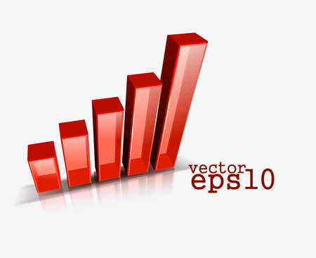 vector bar graph for business industry  Vector