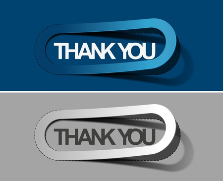thanks you sticker design vector. Vector