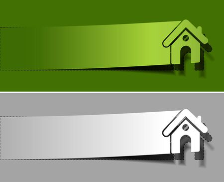 Home peel off vector design element. Vector