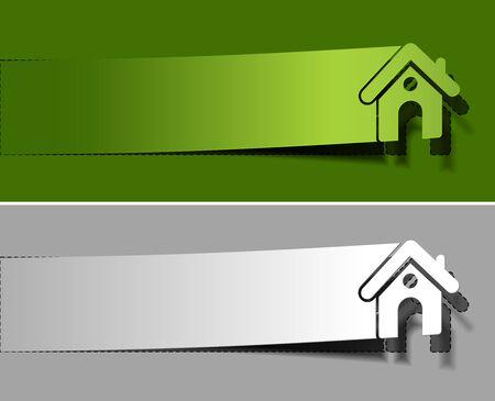 Home peel off vector design element. Stock Vector - 12491277