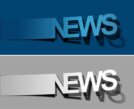 headline: News peel off vector design element