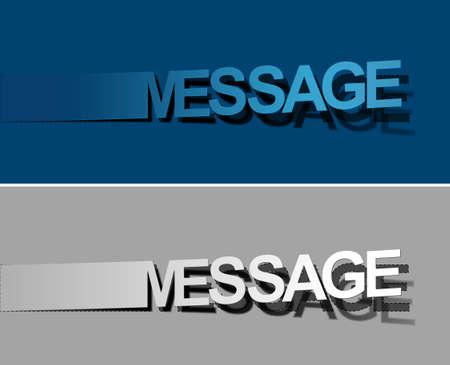 Message peel off vector design element. Stock Vector - 12491355