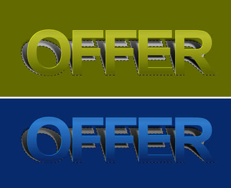 out of order: Offer peel off  vector design element.
