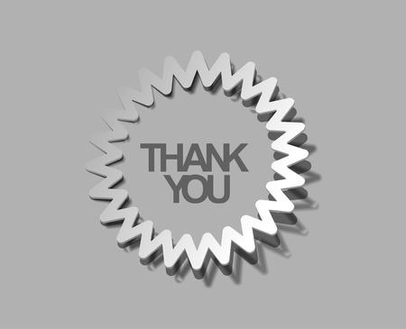 thanks you: thanks you sticker design vector.  Illustration