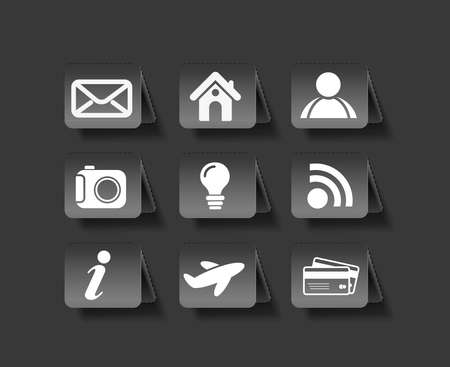 vector web navigation icons element.  Vector