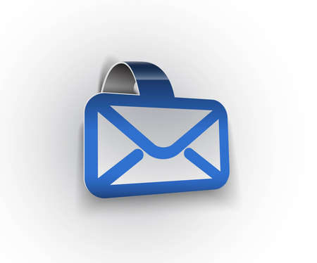 mail box: vector email icon web design element.