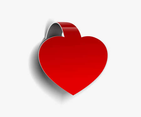 Corners heart design element isolated On white background, Vector Illustration  Vector