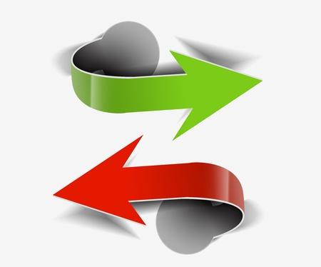 Corners arrow design element isolated On white background, Vector Illustration