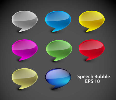 Colorful speech messenger window icon vector illustration isolated. Stock Vector - 12491759