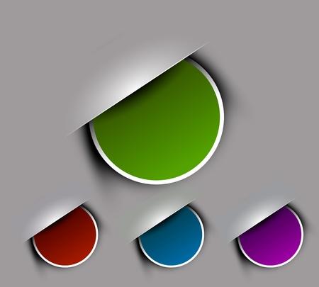 Corners design element isolated On white background, Vector Illustration