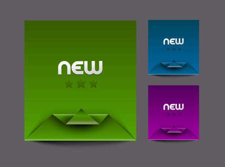 Corner banner design element, eps10 vector. Vector