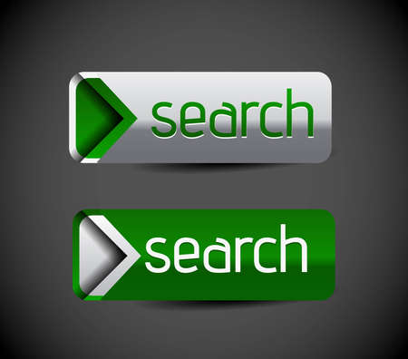 Search sign icon with shadow and reflections.  Vector