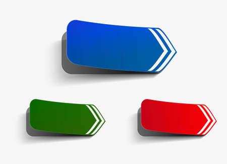 Color vector corner lable tag design. Stock Vector - 12491903