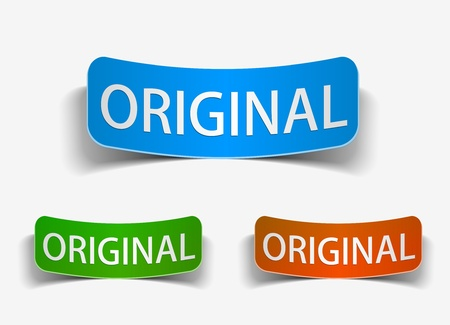 genuine good: original product promotion vector label, eps10 vector