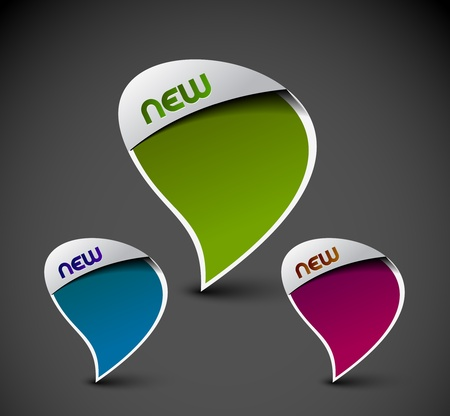 Design of advertisement messenger window icon. transparent shadow easy replace background and edit colors.  Vector