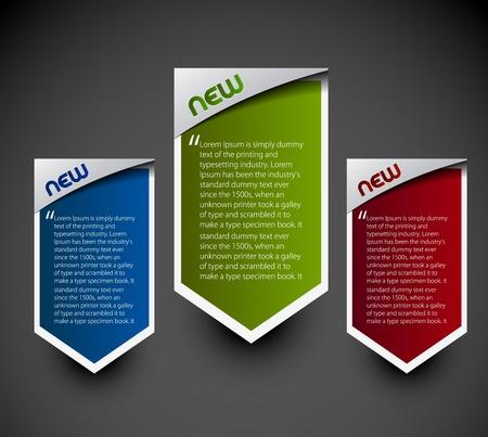 """zastąpić: Projekt naklejek etykiet reklamowych. przezroczysty cieÅ"""" proste tÅ'o replace i kolory edytuj. Ilustracja"""