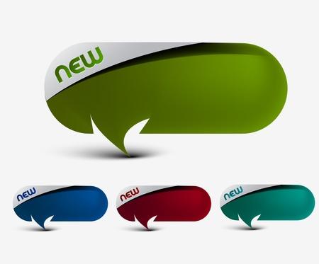 onglet: Conception d'autocollants �tiquettes publicitaires. transparente de fond replace l'ombre facile et Modifier les couleurs.