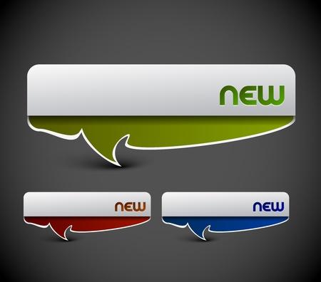 zastąpić: Projektowanie naklejek etykiet reklamowych. przezroczysty cień proste tło replace i kolory edytuj. Ilustracja