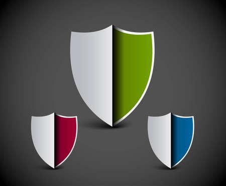 security shield symbol icon vector illustration. Vector