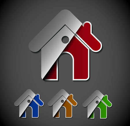 modern house exterior: vector home icon design with isolated web element.