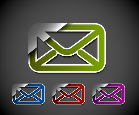vector email icon web design element. Stock Vector - 12492022