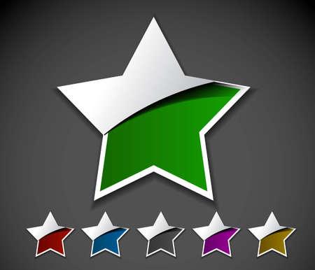 star rating: Progettazione di elemento di design stelle.