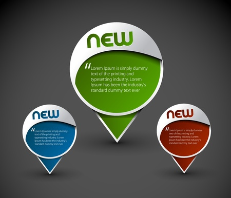 bande dessin�e bulle: �l�ment messager ic�ne de la fen�tre, illustration vectorielle.