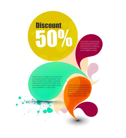 priced: Vector discount banner, transparent shadow easy replace background.