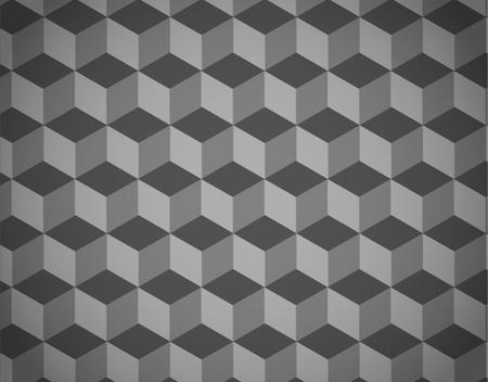 Seamless geometric pattern in op art design. Vector art.  Vector
