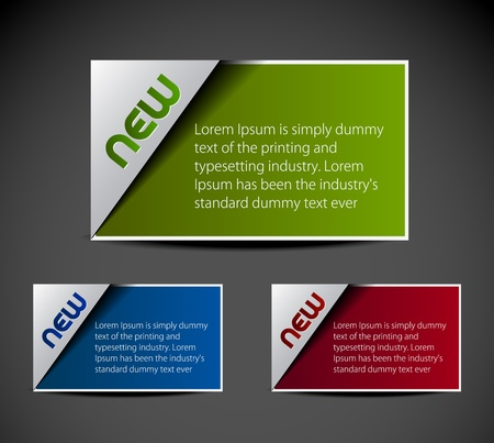 corner tab: Design of advertisement labels stickers. transparent shadow easy replace background and edit colors.
