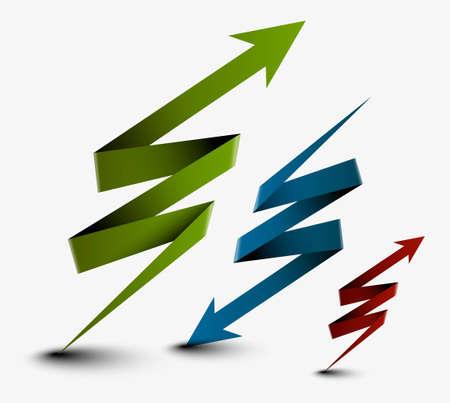 curve arrow: abstract arrow business design, vector illustration. Illustration