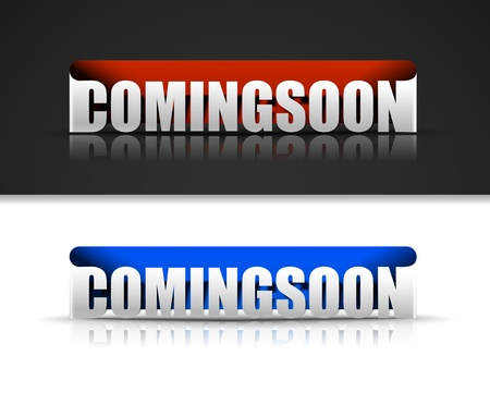 Set of coming soon sticker  Vector