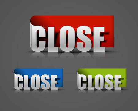 doorhandle: Close sticker sign design, vector illustration