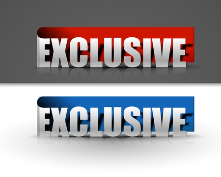 stickers for exclusive design, vector illustration  Vector