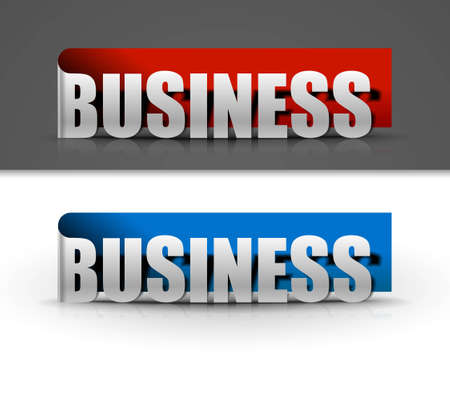 stickers for business design, vector illustration Stock Vector - 12491622
