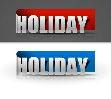 stickers for holiday design, vector illustration Vector