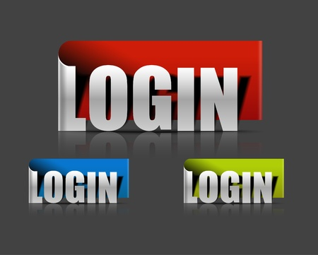 stickers for login design element, vector illustration Vector
