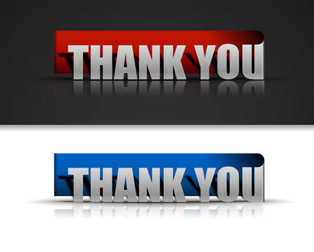 Thank you sticker design element. Stock Vector - 12491403