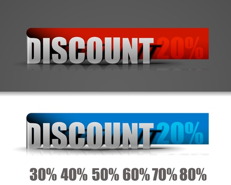 Discount labels design elements. Vector  Stock Vector - 12491615