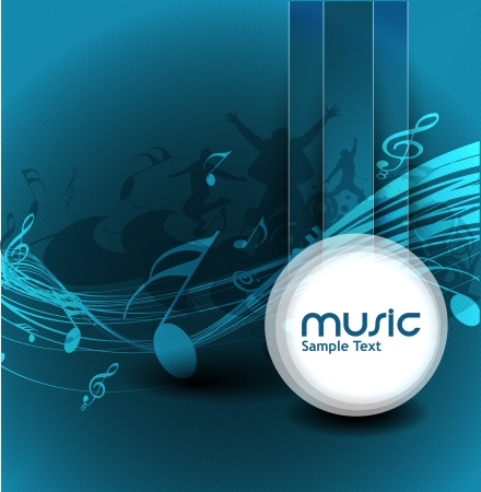 abstract music notes design for music background use Stock Vector - 14576211