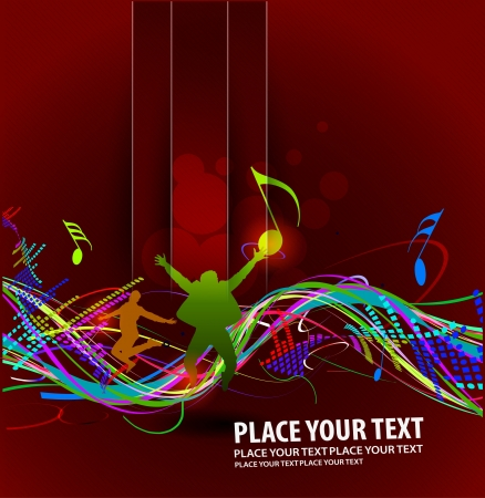 abstract music design for music background use Vector