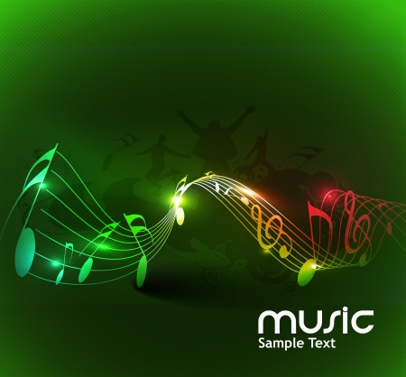 in tune: abstract music notes design for music background use