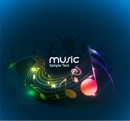 disegno astratto note musicali per l'utilizzo musica di sottofondo