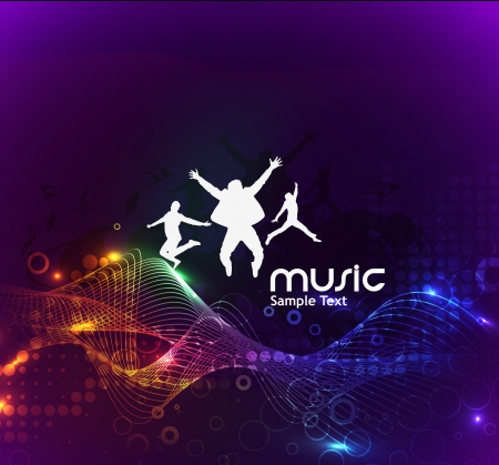 music dj: abstract music design for music background use