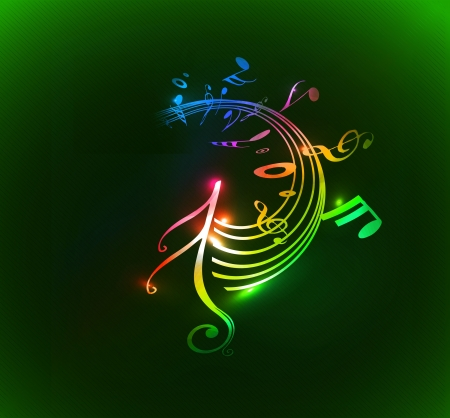 popular music concert: abstract music notes design for music background use