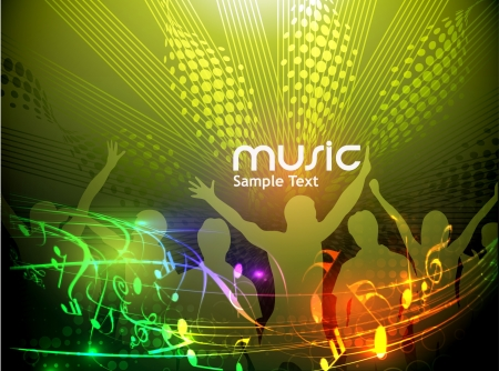 abstract music design for music background use Stock Vector - 14576222