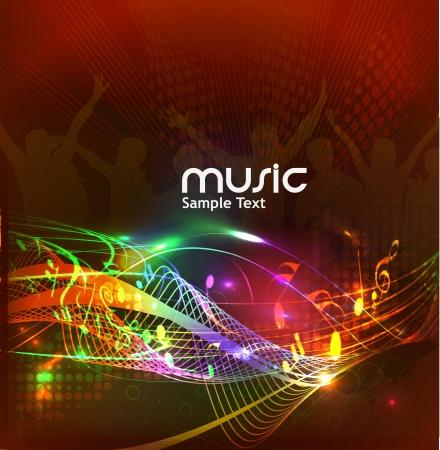 musik hintergrund: abstrakte Musik Noten Design f�r Musik-Hintergrund verwenden, Vektor-Illustration Illustration