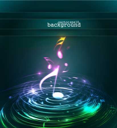 abstract music: abstract music notes design for music background use