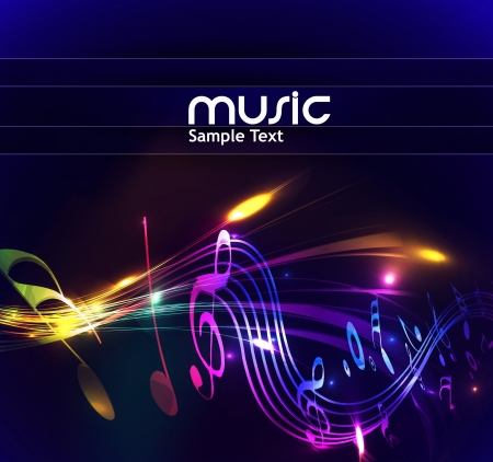 abstraite des notes de musique de conception pour l'utilisation de musique de fond